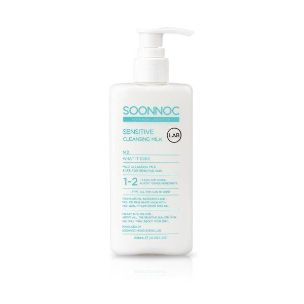 Soonnoc Sensitive Cleansing Milk