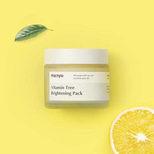 vitamin tree brightening pack mask by manyo
