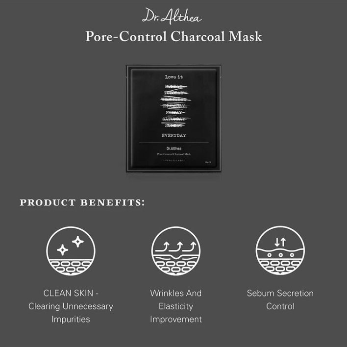 Pore-Control Charcoal Mask main features banner