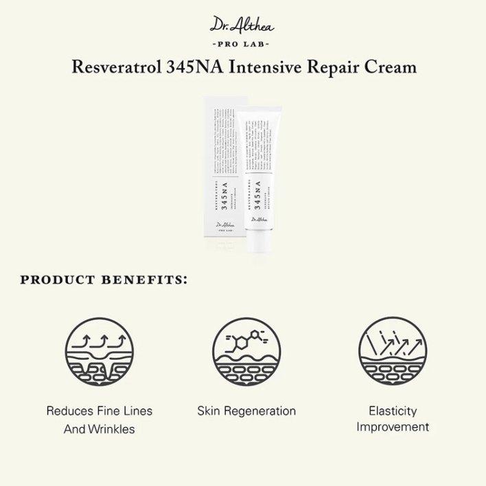 Dr. Althea Resveratrol 345NA Intensive Repair Cream product benefits