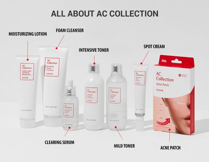 COSRX AC Collection line products