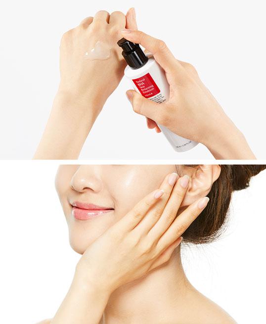 hwo to use COSRX Natural BHA Skin Returning Emulsion