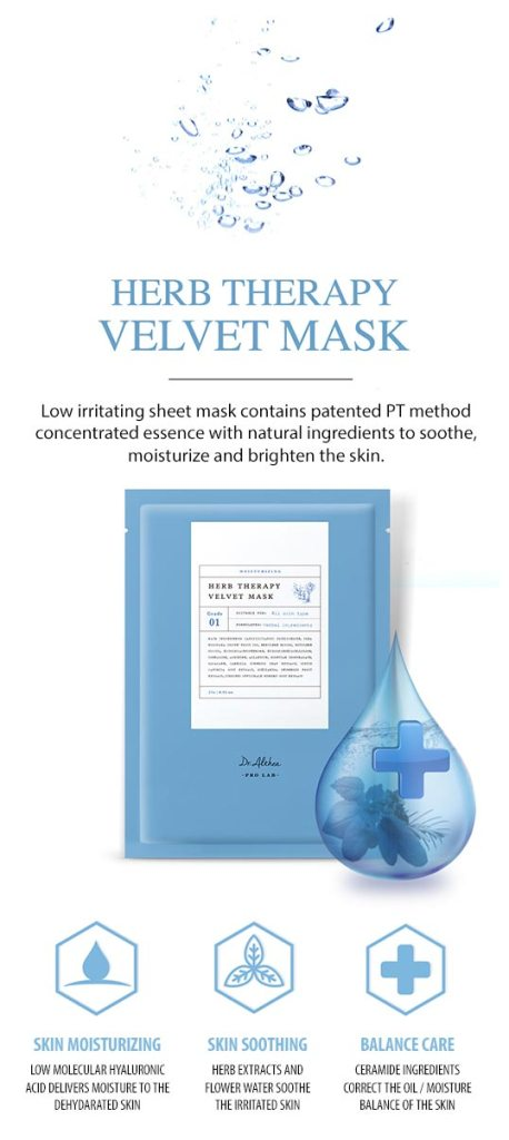 Dr.Althea Herb Therapy Velvet Mask features