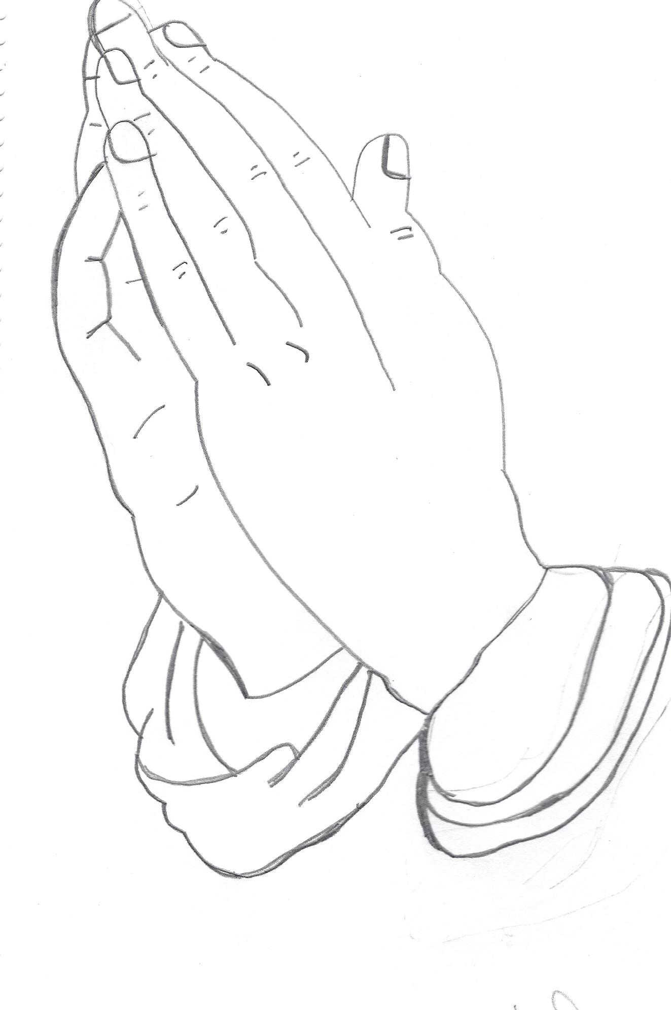 Praying Hands Drawn By Me