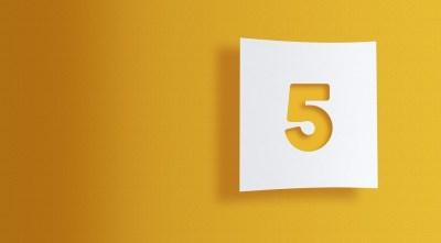 ソウルナンバー『5』の性格的特徴3選!恋愛傾向/結婚・適職・有名人など数秘術に詳しい筆者が解説!