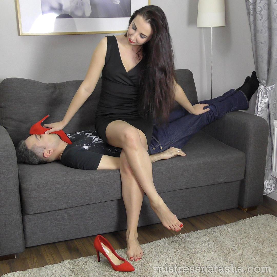 MISTRESS NATASHA  Amateur domestic femdom trampling