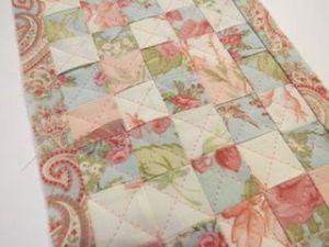 Colchas de patchwork para casas de muñecas acolchado