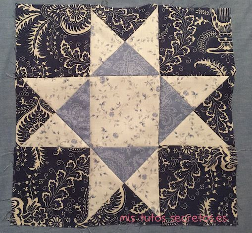 Tutorial Estrella de Ohio en Patchwork