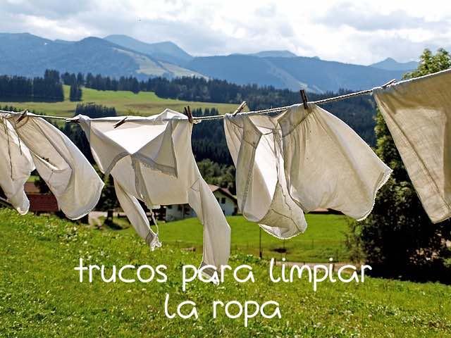 Trucos y Consejos para limpiar la ropa