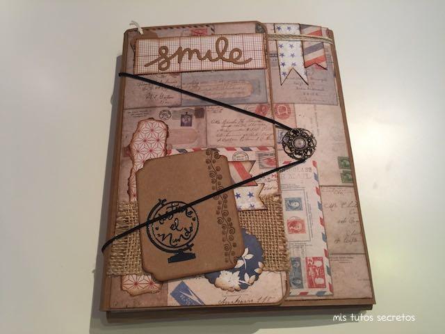 Tutorial Cuaderno de Viaje Scrapbooking