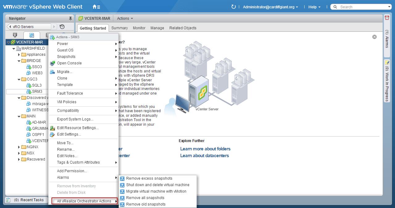 VSPHERE 6 – vRealize Orchestrator Upgrade - Mistwire