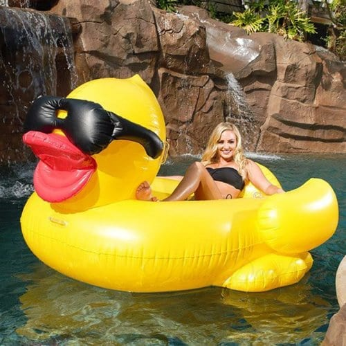 inflatable chair with cup holder mid back office [inflatable pool float] - giant yellow duck float misty daydream