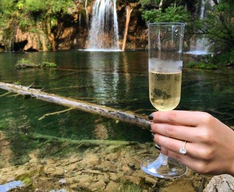 Engagement ring hike proposal Colorado