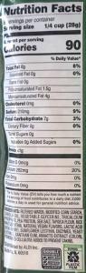 Earth Grown Vegan Mozzarella Cheese Nutritional Facts