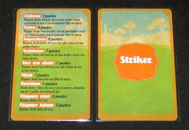 Cartas del Modo Striker