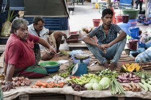 Vendedores en el mercado