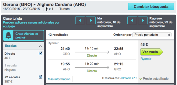 Mis viajes low cost - vuelo barato a Sardegna - Girona Skyscanner