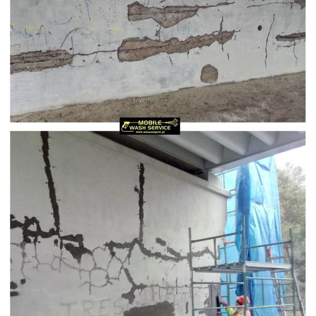 Prace przygotIniekcje budowlaneowawcze do wykonania iniekcji budowlanych- wzmacniających i sklejających rysy żywicą epoksydową