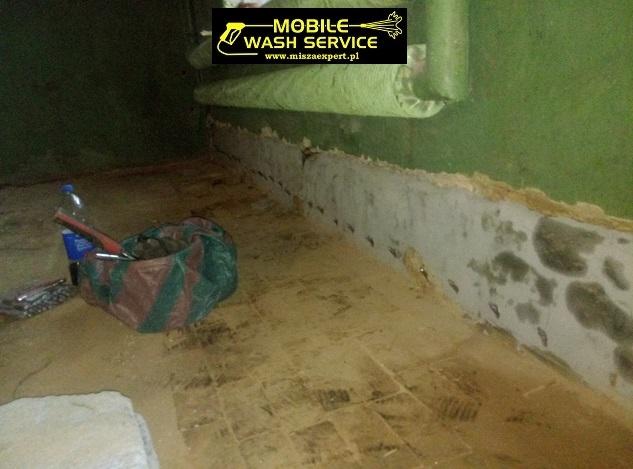 Prace przygotowawcze do wykonania izolacji poziomej w technologii żywic poliuretanowych