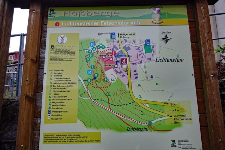 Sagenweg im Felsenlabyrinth Lichtenstein Haßberge