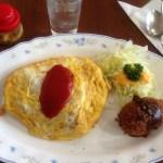 老舗洋食店キクヤレストランのオムコロ