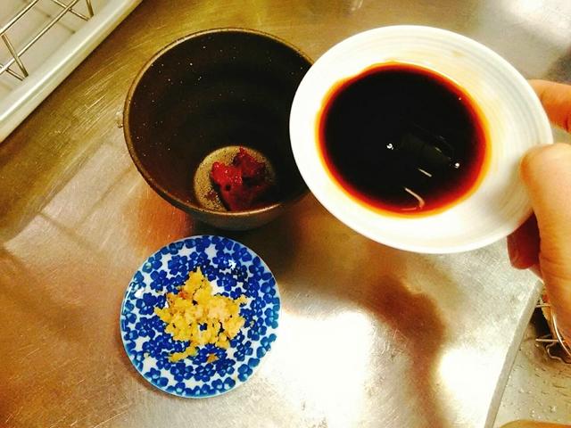 梅醤番茶の醤油