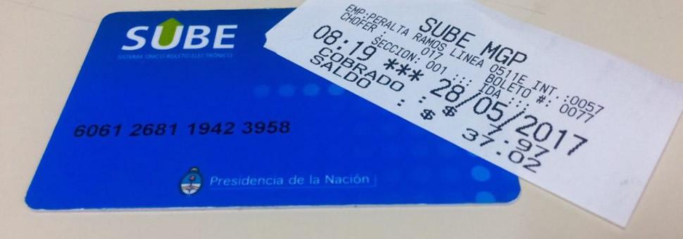 SUBE con boleto : avanzan las pruebas en Mar del Plata