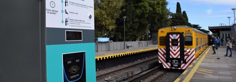 Nuevos lectores de tarjeta SUBE en 23 estaciones del tren Urquiza