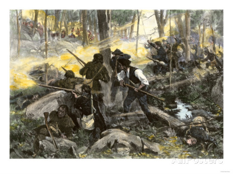 Painting of the Battle of Kings Mountain by Yohn