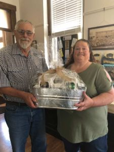 Photo of Shepherd and Patricia Gibbs, winner of the 2019 Apple Butter Festival Gift Basket