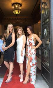 Glam girls (actresses Bobbi Combs and Michelle Dobrozsi, and production designer Christina Lambert)