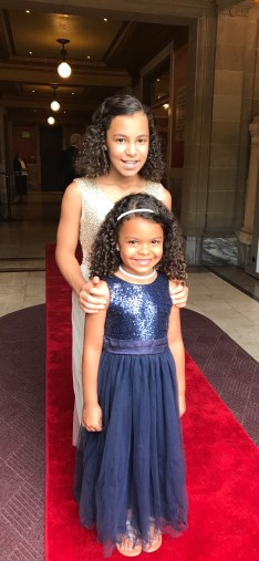 Another miracle: Neecie (Raylon Cowherd) with her younger self (Devyn Cowherd)!
