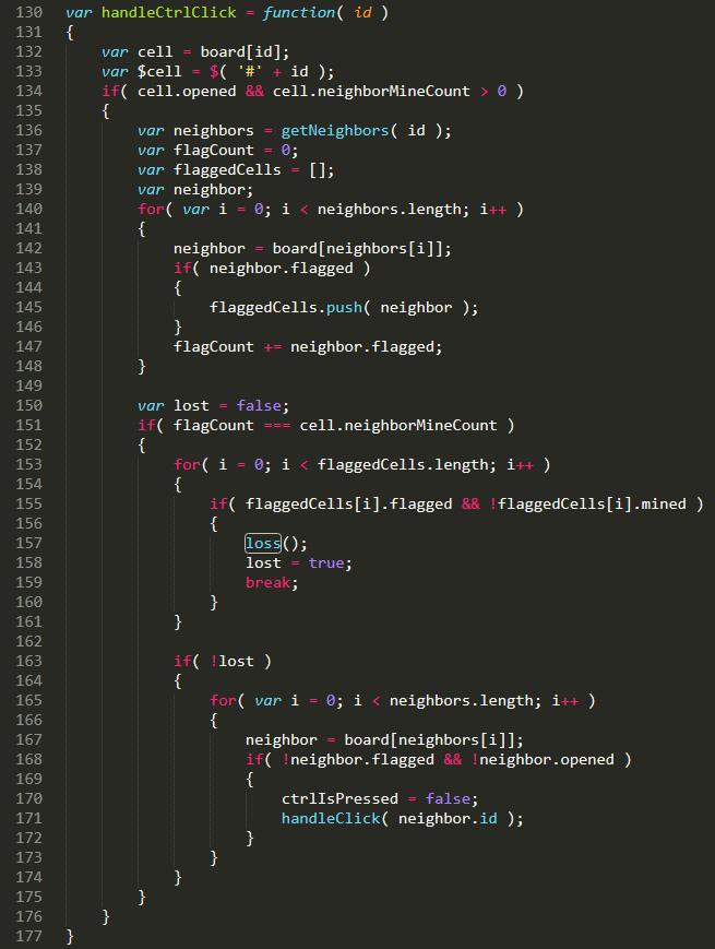JavaScript code for handling ctrl + left click