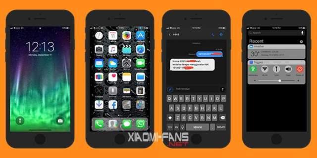 Download Tema iOS X Black untuk Xiaomi