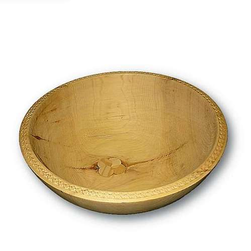 Schale aus Zirbenholz