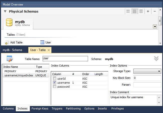 opțiunile de gestionare a tabelelor binare