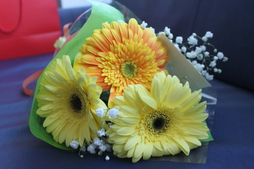 Pretty flowers for the patient
