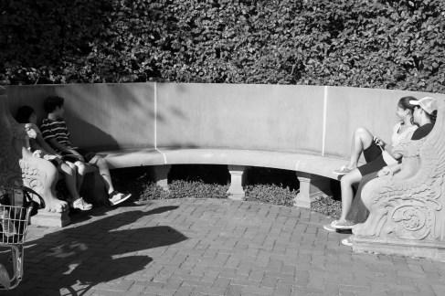 Whispering bench at Longwood Gardens