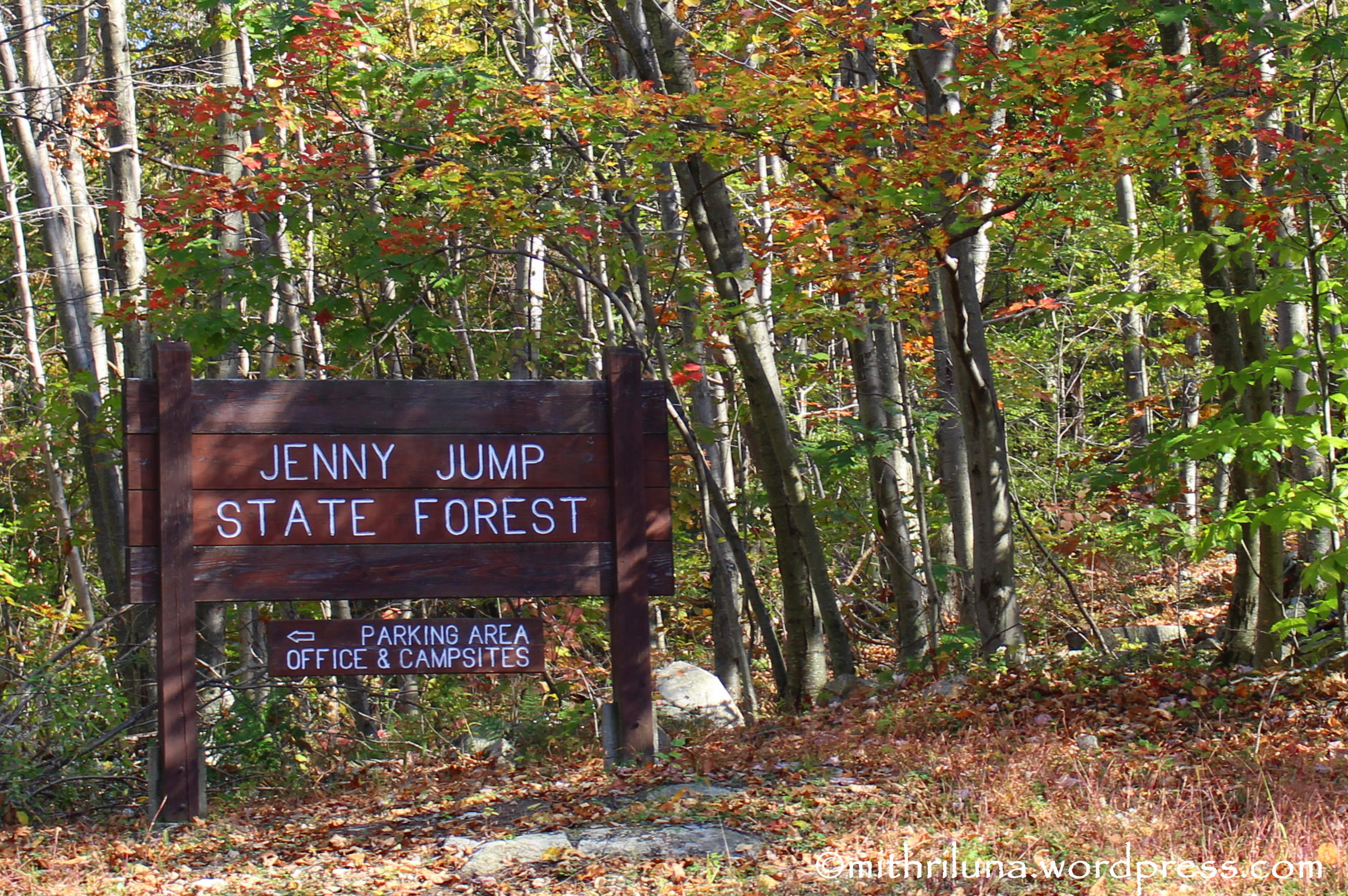 fall camping at jenny