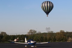 Hot air balloon and planes