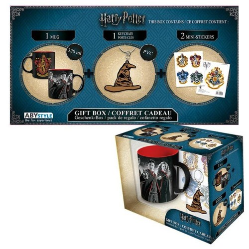 Gift Box Harry Potter Tazza Portachiavi e adesivi