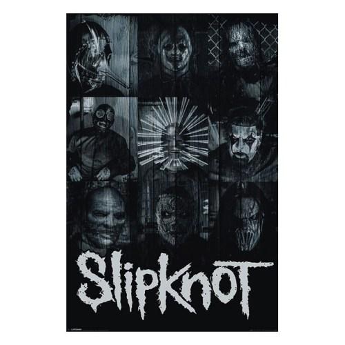 poster slipknot maschere