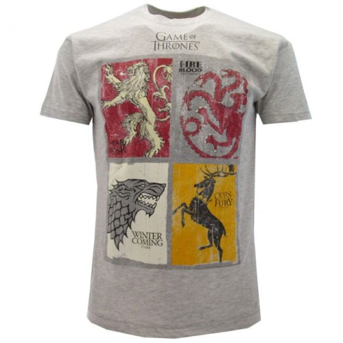 T-Shirt Game of Thrones Quattro Casate