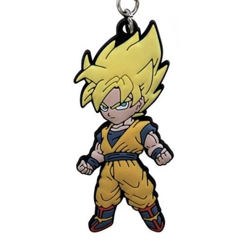 Portachiavi Dragon Ball Goku Super Sayan in gomma dettaglio