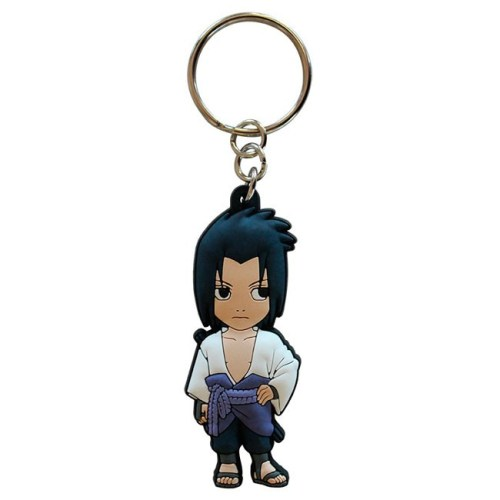 Portachiavi Naruto Shippuden Sasuke Uchica in gomma
