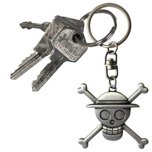 Portachiavi One Piece Cappello di Paglia logo 3D dettaglio chiavi