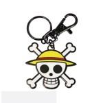 Portachiavi One Piece Stemma pirata Cappello di Paglia