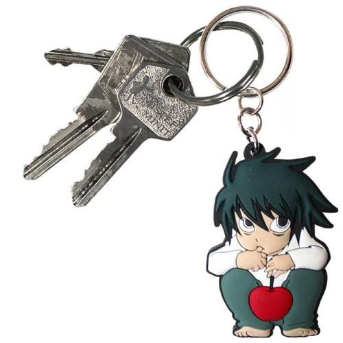 portachiave L con mela Death Note dettaglio chiave