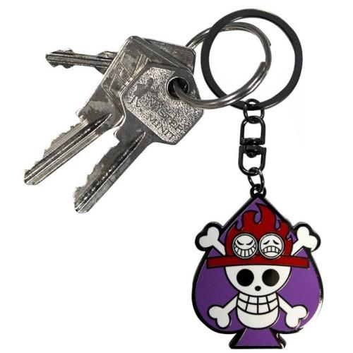portachiavi skull ace one piece dettaglio chiavi