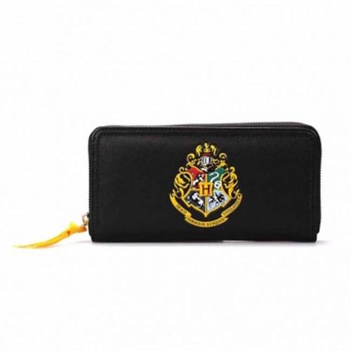 portafoglio da donna nero con stemma di Hogwarts HP harry Potter